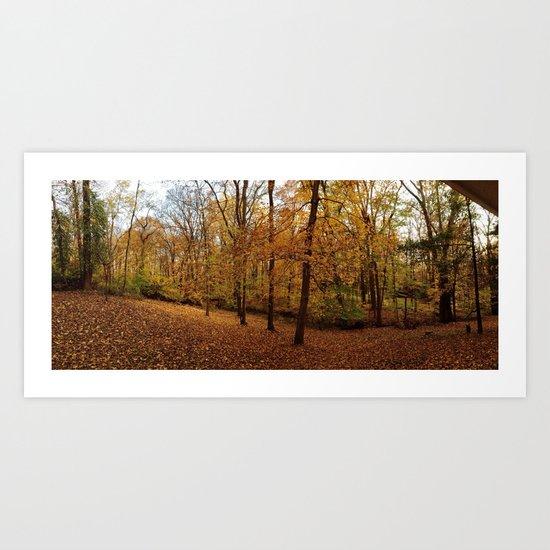 Fall on Fire II Art Print