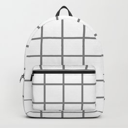 GRID DESIGN (GREY-WHITE) Backpack