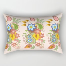 Damask and Paisley leaves and flowers Rectangular Pillow