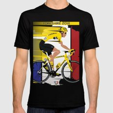 Grand Depart Yorkshire Tour De France  Mens Fitted Tee X-LARGE Black