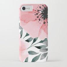 Big Watercolor Flowers iPhone 7 Slim Case