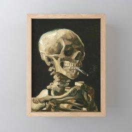 Skull of a Skeleton with Burning Cigarette by Vincent van Gogh Framed Mini Art Print