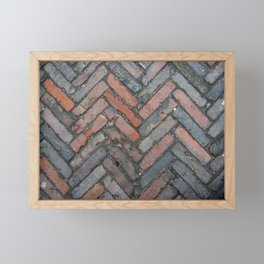 Brick Framed Mini Art Print