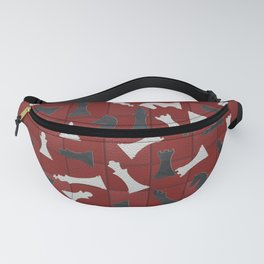 Chess Figures Pattern -Leather texture Fanny Pack