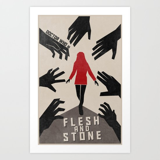 Flesh and Stone (5 in a series of 13) Art Print