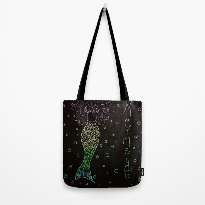 Mermaid In The Dark Tote Bag