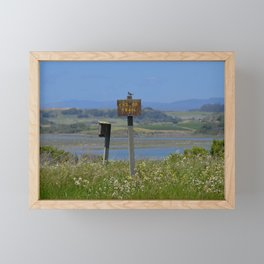 end of trail Framed Mini Art Print