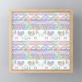 Pastel Elephant Tribal Pattern Framed Mini Art Print
