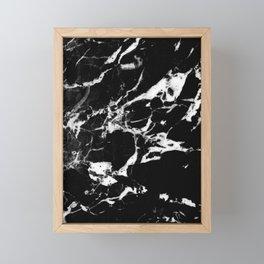 Black Marble #13 #decor #art #society6 Framed Mini Art Print