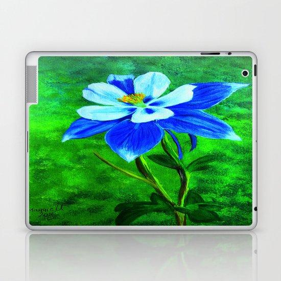 Blue columbine Laptop & iPad Skin