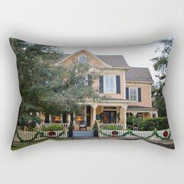 Holiday Victorian Mansion Rectangular Pillow