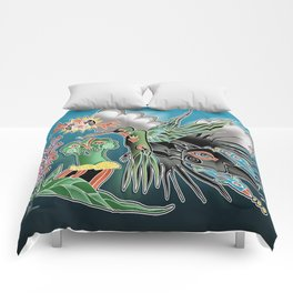 the humming bird and the crow Comforters