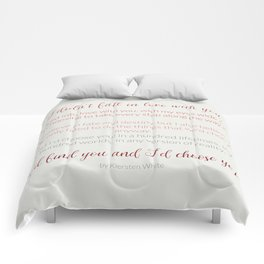 I'd choose you 4 #quotes #love #minimalism Comforters