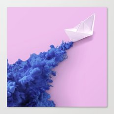PAPER BOAT INK Canvas Print