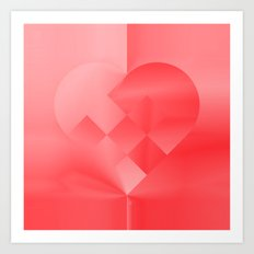 Danish Heart Love Art Print