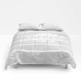 White Plant On A Grey Background #decor #society6 Comforters