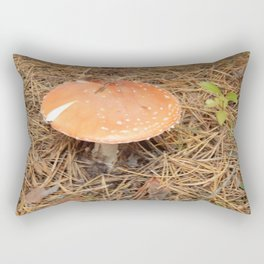 Picking mushrooms edible and not very in the woods Rectangular Pillow