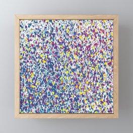 Fiesta Frequency - Kirkland-Inspired Digital Dot Painting Framed Mini Art Print