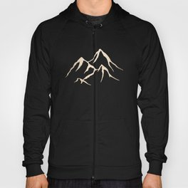 Adventure White Gold Mountains Hoody