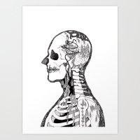 gorillaz Art Prints featuring Demon Days ~ A. by Sára Szabó