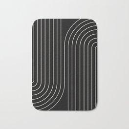 Minimal Line Curvature - Black and White II Bath Mat
