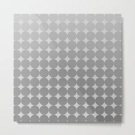 White Circles Metal Print