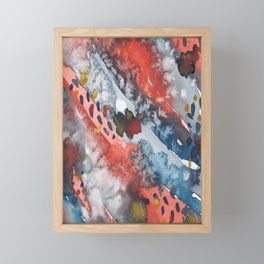 Abstract watercolor iPhone case Framed Mini Art Print