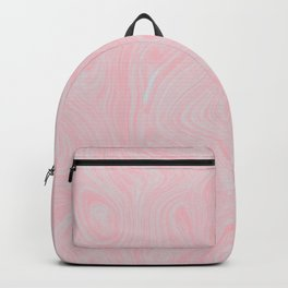 Modern abstract pink gray watercolor brushstrokes pattern Backpack
