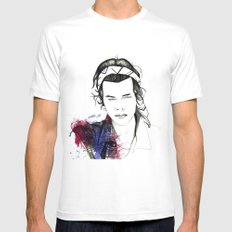 Harry Styles White Mens Fitted Tee MEDIUM