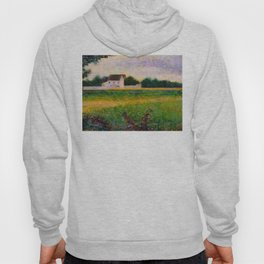 Landscape of the Ile de France Post-Impressionism landscape Oil Painting Countryside Cottages Farm Hoody