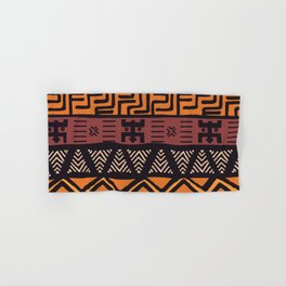 Tribal ethnic geometric pattern 021 Hand & Bath Towel