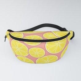 Pink Lemonade Citrus Lemon Slices Fanny Pack