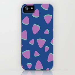 Abstract Graphic Pattern | Blue | Pink | Green iPhone Case