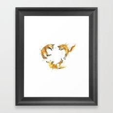 Fox Circle Framed Art Print