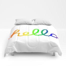 Oh Hello! Coloful Version Comforters
