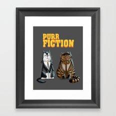 Purr Fiction Framed Art Print