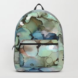 Alcohol Ink Sea Glass Backpack
