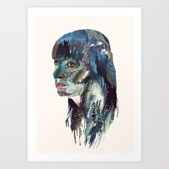 Water Head Art Print