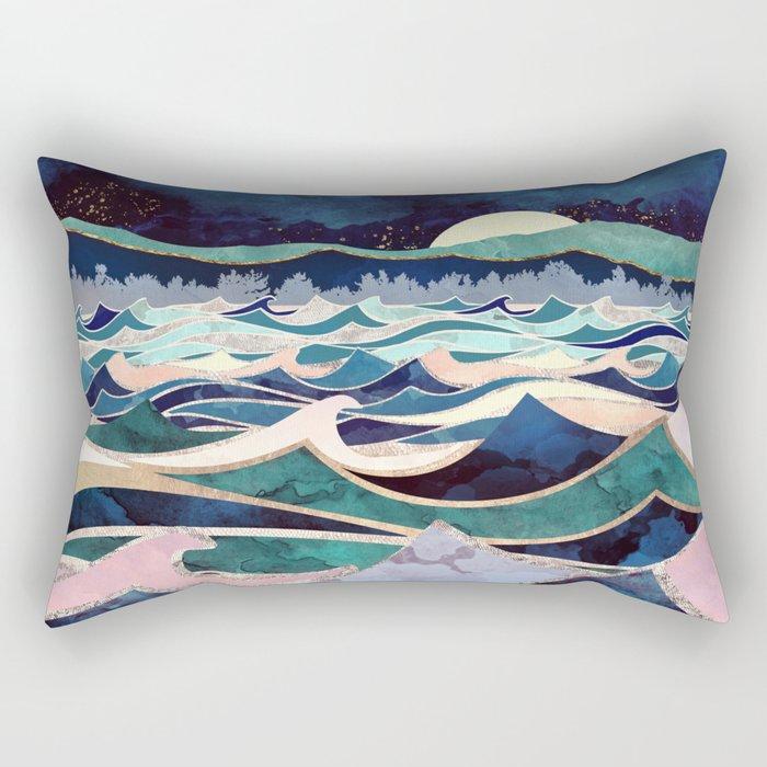 Moonlit Ocean Rectangular Pillow