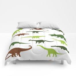 Green dinosaurus pattern Comforters