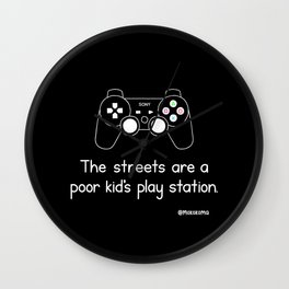 PlayStation (Black) Wall Clock