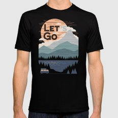 Let's Go Mens Fitted Tee Black LARGE