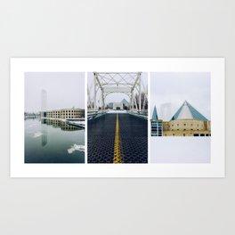 Ottawa Triptych Art Print