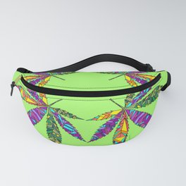 Patchwork Pot Leaves Fanny Pack