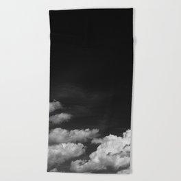 Black sky Beach Towel