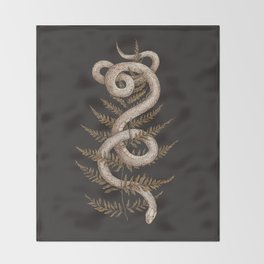 The Snake and Fern Throw Blanket