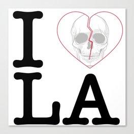 I Heart Skull Los Angeles Canvas Print