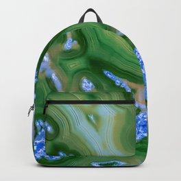 Dark Green agate Backpack