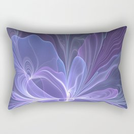 Abstract Art, Purple Fantasy Fractal Rectangular Pillow