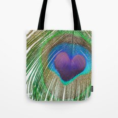 Peacock Love Tote Bag